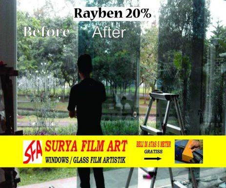Pemasangan Kaca Film Jakarta, KACA FILM RAYBEN HITAM
