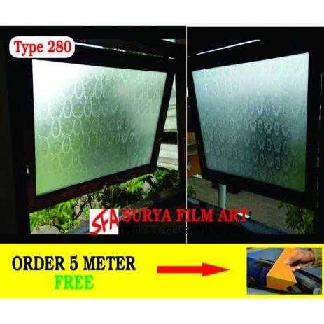 Pemasangan Kaca Film Bekasi, SANDBLAST MOTIF SFA 208