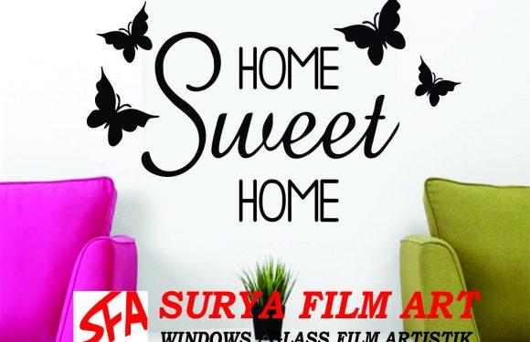Grosir Kaca Film Depok, WALL STICKER HOME SWEET HOME