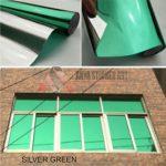 stiker kaca film one way hijau
